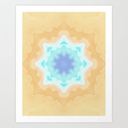 Sandy Portal Fractal Light Source Kaleidoscope Digital Painting Art Print