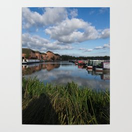 Barton Marina Narrow Boats Poster