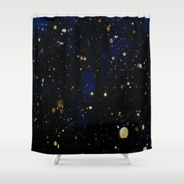 Glittered Snow Shower Curtain
