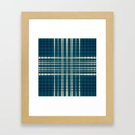 Blue & Neutral Weave I Framed Art Print