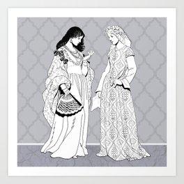 Roman Sisters Art Print
