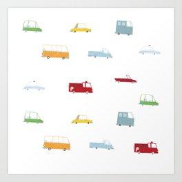 Cars Print pattern Art Print