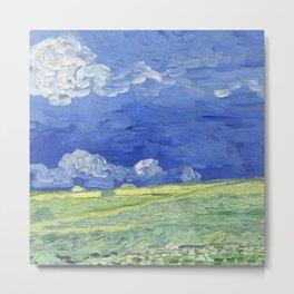 "Vincent Van Gogh ""Wheat Field under Thunderclouds"" Metal Print"