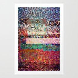 GLITCH 6 - I think I saw you on tv Art Print