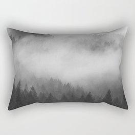 Foggy Forest Rectangular Pillow