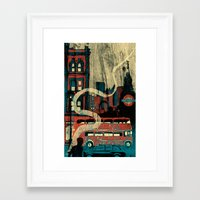 london Framed Art Prints featuring London  by Peter Coleman