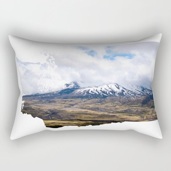 I Love Washington II Rectangular Pillow