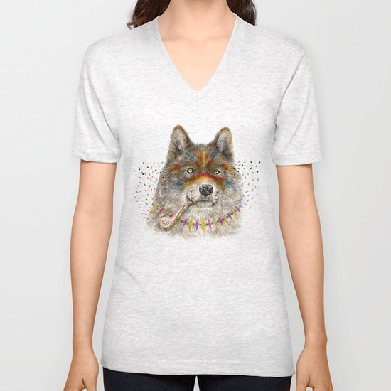 Cherokee Wolf Unisex V-Neck