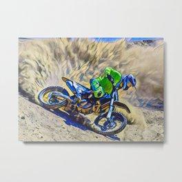 Hobbie Motorcycle Metal Print