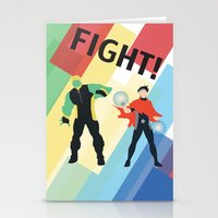 fight Stationery Cards featuring FIGHT! by Lena Lang