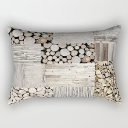 Wood Collage rustic weathered Rectangular Pillow