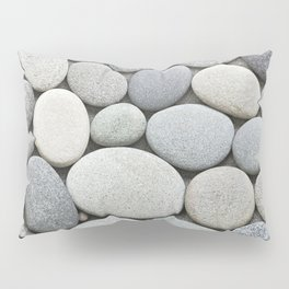 Grey Beige Smooth Pebble Collection Pillow Sham