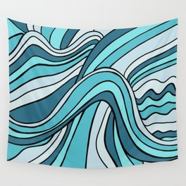 Ocean Waves Of Chaos Wall Tapestry