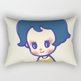 a little girl  Rectangular Pillow