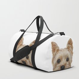 Yorkshire Terrier original painting print Duffle Bag