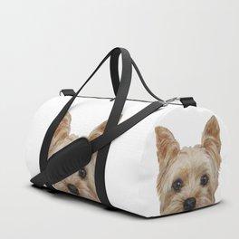 Yorkshire Terrier original painting print Duffle Bag