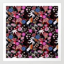 Kimono Black Art Print