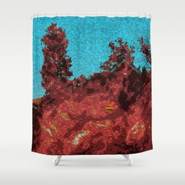 Heat Rushes In Shower Curtain
