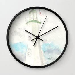 Morning at Scituate Lighthouse Wall Clock