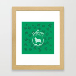 St. Patrick's Day Bearded Collie Funny Gifts for Dog Lovers Framed Art Print