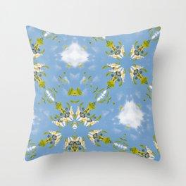 Franklinia Alatmaha and Sky Throw Pillow