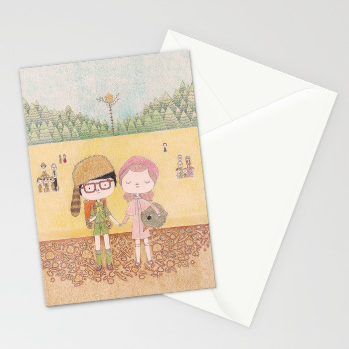 Moonrise Kingdom Stationery Cards