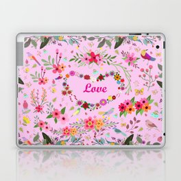 Say I love you with flowers Laptop & iPad Skin
