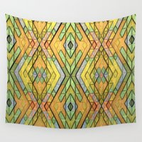 deco Wall Tapestries featuring Deco Diamonds by Lyle Hatch