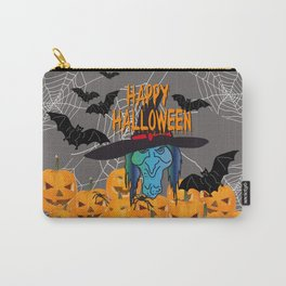 Bats & Witch Happy Halloween Carry-All Pouch