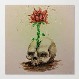 Skullflower Canvas Print