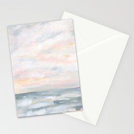 You Are My Sunshine - Gray Pastel Ocean Seascape Stationery Cards