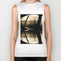 cityscape Biker Tanks featuring Cityscape by sysneye