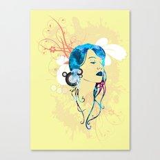 retro woman vector Canvas Print