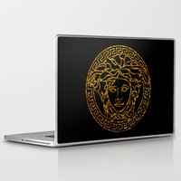 medusa Laptop & iPad Skins featuring medusa by ECSTATIC