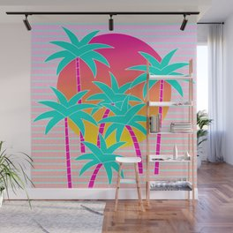 Hello Miami Sunset Wall Mural
