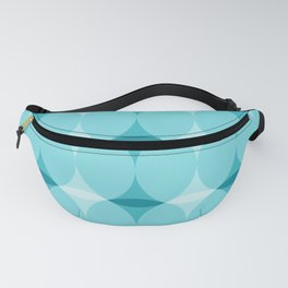 Circles and Diamonds Turquoise Fanny Pack
