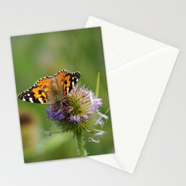 Painted Lady on a Teasel Stationery Cards