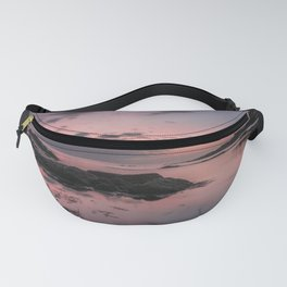 Reflective sunset at Plum Cove Beach Fanny Pack