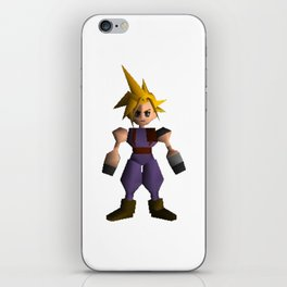Cloud Low Poly - Final Fantasy VII iPhone Skin