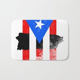 Puerto Rico + Flag Bath Mat