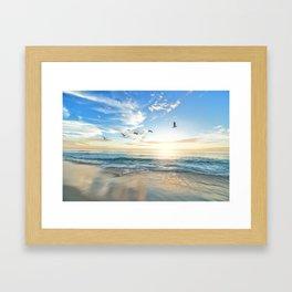 Beach Scene 34 Framed Art Print