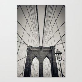 Brooklyn Bridge B/W   New York City Canvas Print