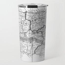 Vintage Map of Puerto Rico (1901) BW Travel Mug
