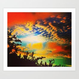 Popsicle Sky Art Print
