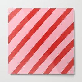 Reddy Stripes Metal Print