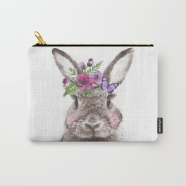 Bunny with flowers Carry-All Pouch