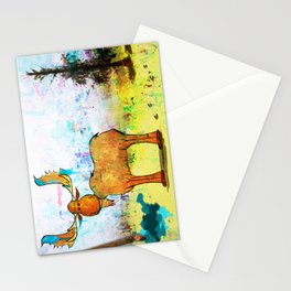 Blue Moose on the Loose ~Ginkelmier Stationery Cards