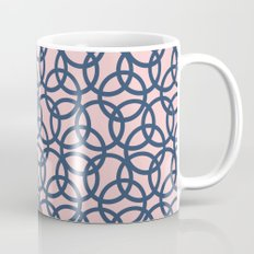 Olympic Navy on Blush Coffee Mug