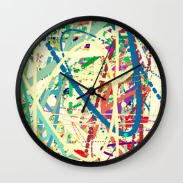 An Homage to Pollock Wall Clock