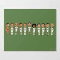 real madrid Canvas Prints featuring Real Madrid 2012/2013 Line by 8bit Football